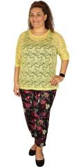 DNY - Lala blonde bluse med 3/4 vingeærmer
