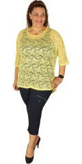 DNY - Lala lace blouse with 3/4 wing sleeves