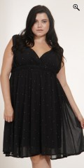Adia - Dress without sleeves and with rubber band under the chest also with hard sewn slip