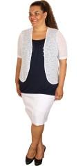 Zhenzi - Bolero with short sleeves in thick thin knit