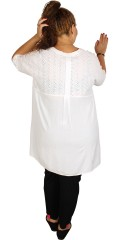 Zhenzi - Tunika skjorte med korte ærmer og i crep kvalitet