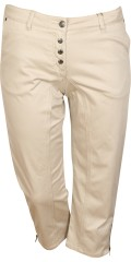 Zhenzi - Stomp capri pants satin twill with stretch and adjustable rubber band in the waist