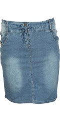 Zhenzi - Super strechy denim jeans skirt with gudebukser