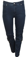 Que - Denim jeans with super stretch and partial rubber band in the waist