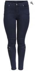Q´neel - Que jeans med super streck och delvis gummiband i midjan