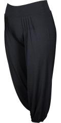 Q´neel - Casual bukser med flotte læg. bred linning med elastik og også elastikafslutning forneden i benene