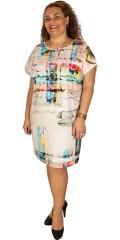 Q´neel - Qneel klänning med vacker mönster