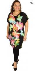 Q´neel - Qneel klänning med enfärgad virkning i sidorna