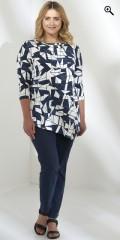 Q´neel - Qneel topp t-shirt med 3/4 ärmar i a-formad