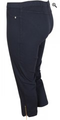 Q'neel - Strechy capri pants with rubber band in whole the waist