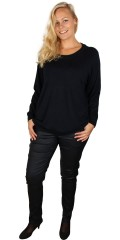 Zhenzi - Knit pullover with round neck and long sleeves