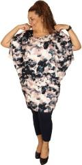 Adia - Oversize tunika / kjole fra adia med vinge ærmer og smarte pynte lynlås over skulderen