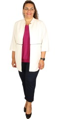 Adia - Jacket/cardigan with lining and 3/4 sleeves