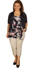 Adia - Flowers top with straps and layer on layer front