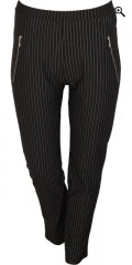 Cassiopeia - Striped soft jersey cigaret pinella pants/leggings with rubber band in whole the waist