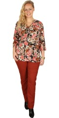 Cassiopeia - Sia shirt blouse with  and in super nice flowers print