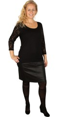 Festival - Viscose blouse with lace sleeves