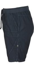 Zizzi - Shorts i lækker bomuld med elastik og snøre i taljen