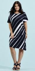 Zhenzi - Tunica kjole med kort vingeærme i blødt og strechy materiale