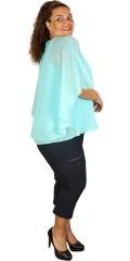 Zhenzi - Really festive chiffon top with flounce sleeves/shawl