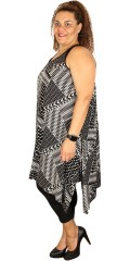 Zhenzi - Smart klänning med justerbar band och dropp under