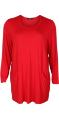 Q'neel - Stylish q-neel blouse in quality viskose-jersey, round neck also 2 pockets