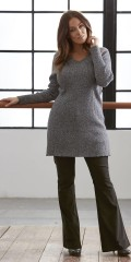 Zhenzi - Stylish knit with stretch and v cutting
