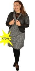 Cassiopeia - Dorthe klänning med korta ärmar och slå om effekt