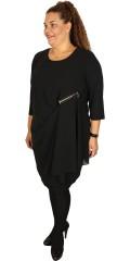 Studio - Tunika/klänning i chiffon och med smart blixtlås detalj