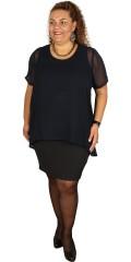 Zhenzi - Smart kjole med chiffon overdel