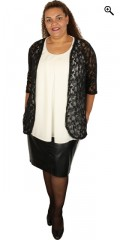 Cassiopeia - Open lace cardigan in super nice pattern and really good stretch
