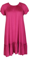 Gozzip - Dress with short sleeves and really good wrinkle effect front and in the back, also flounce skirt