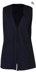 Zhenzi - Open long vest with 2 pockets