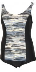 Mirou Swimwear - Smart badedrakt med gull stripe