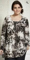 Zhenzi - Bluse med lange ærmer i let a-facon
