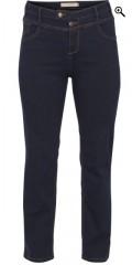 Gemma denim jeans med 5 lommer og rigtig god vidde i benene samt høj talje