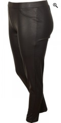 Zizzi - Smart bukser med strikk i hele taljen, ex slank line model