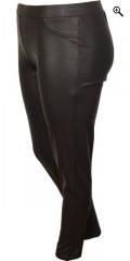 Zizzi - Smarte bukser med elastik i hele taljen, ex slim line model