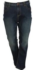 Zizzi - Schlank Jeans Modell molly mit Stretch und Gurtträger sowie 5 Taschen