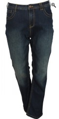 Zizzi - Slim denim jeans model molly with stretch and belt straps also 5 pockets in two lengths