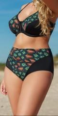 Plaisir - Høj bikini buks med flot mønster foran