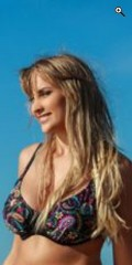 Plaisir - Bikini top med bøjle i flot mønster