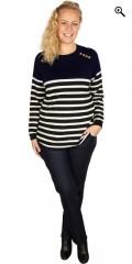 Zhenzi - Pullover i maritimt look