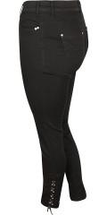 Zizzi - Amy jeans med super strech og snøre forneden i benene