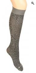 Festival - Knæstrømpe med leopard mønster 70 denier