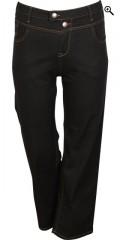 Zizzi - Gemma jeans med 5 fickor och verkligen bra vidd i benen och hög midja, strechy byxor i två längdor