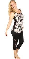 Zhenzi - Pants/leggings fitness 3/4 i super strechy materiale med elastik og snøre i taljen