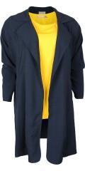 """Zhenzi - Smart """"trenchcoat""""/cardigan with collar, is closed with tie string"""