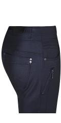 Zhenzi - Beschichtete salsa Stretch Jeans mit Regulierbar Elastik in die Taille