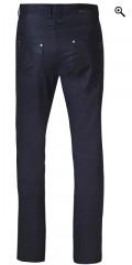 Zhenzi - Coatede salsa stretch jeans med regulerbar elastik i taljen